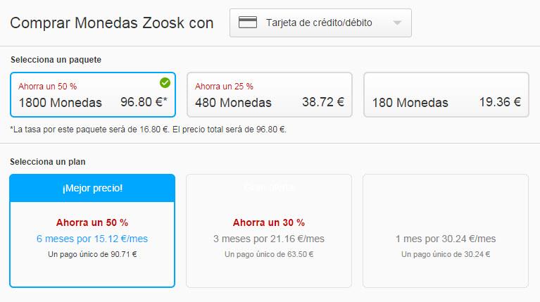 zoosk precios